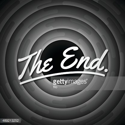 The End Credits Concept Clipart Image.