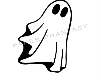 Spooky clipart ghost outline, Spooky ghost outline.