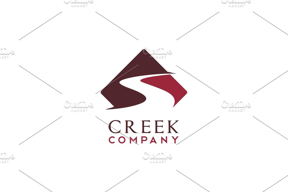 Road / River / Creek logo design.