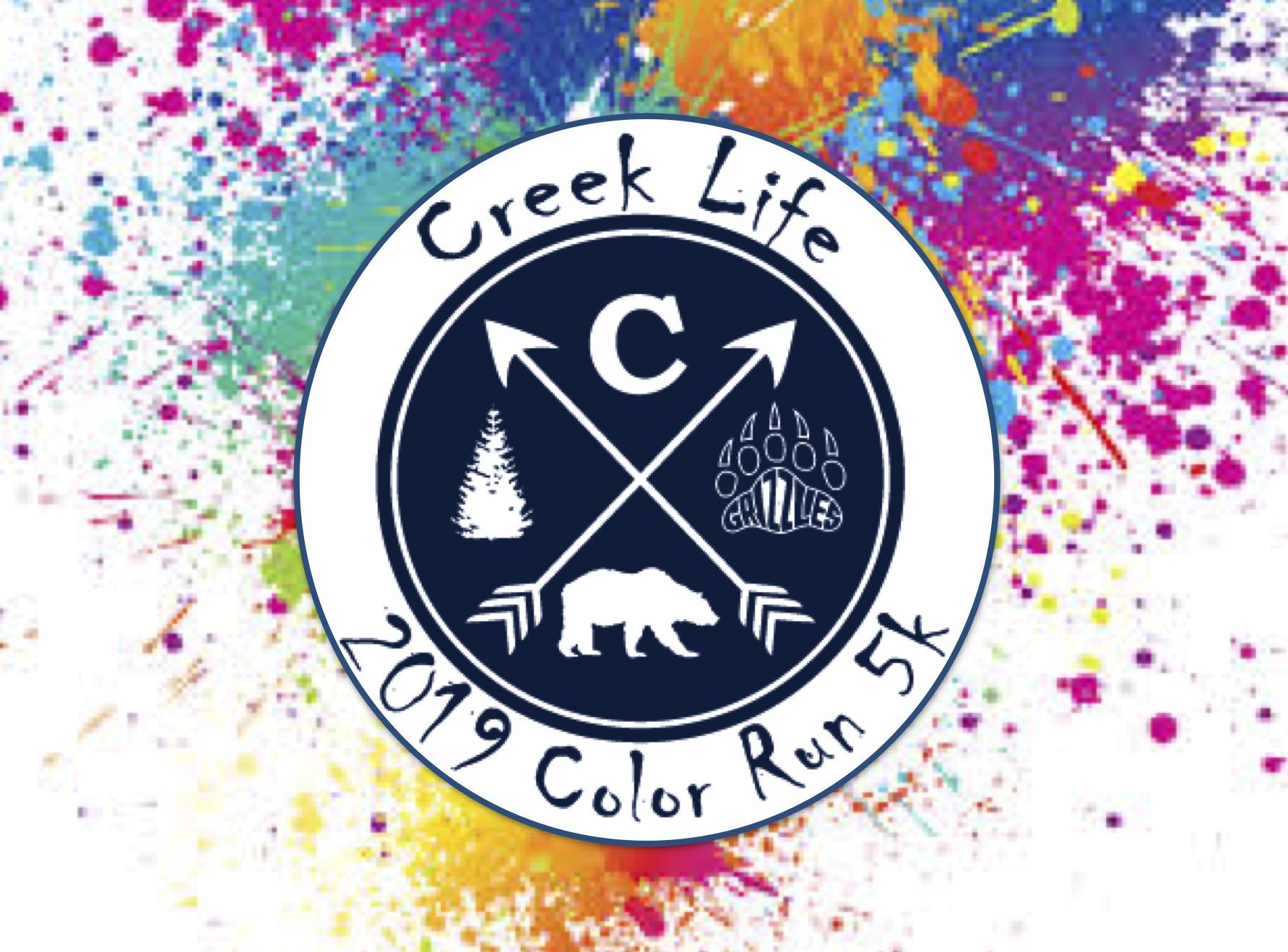 Creeklife 5K Color Run at Creekland Middle School.