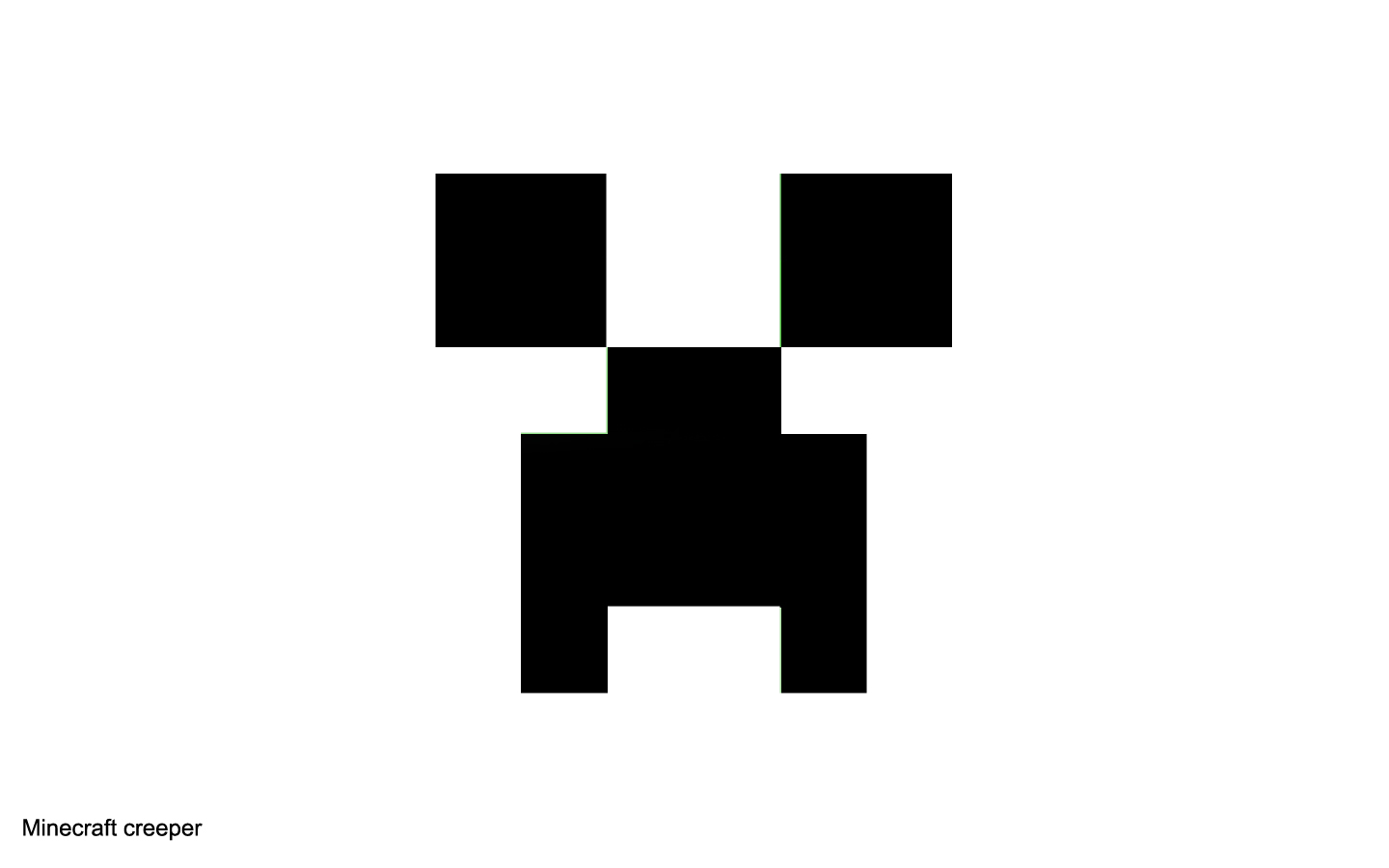 Minecraft creeper clipart.