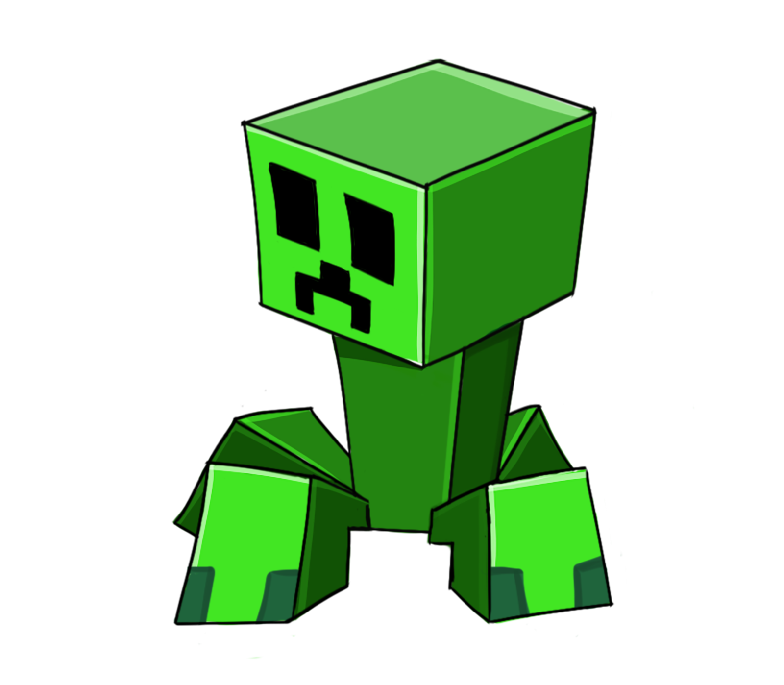 Creeper Transparent Background.