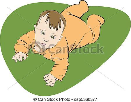 Vectors Illustration of little baby.