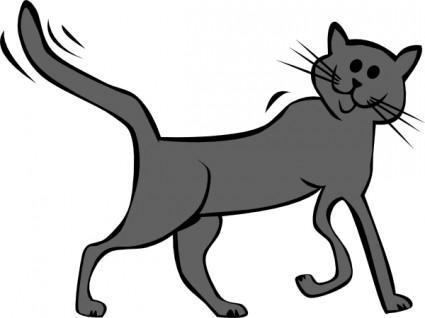 Tribal Cat Clip Art Free Vector.