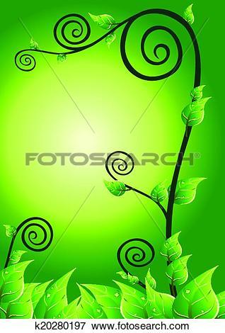 Clip Art of creeping plant k20280197.