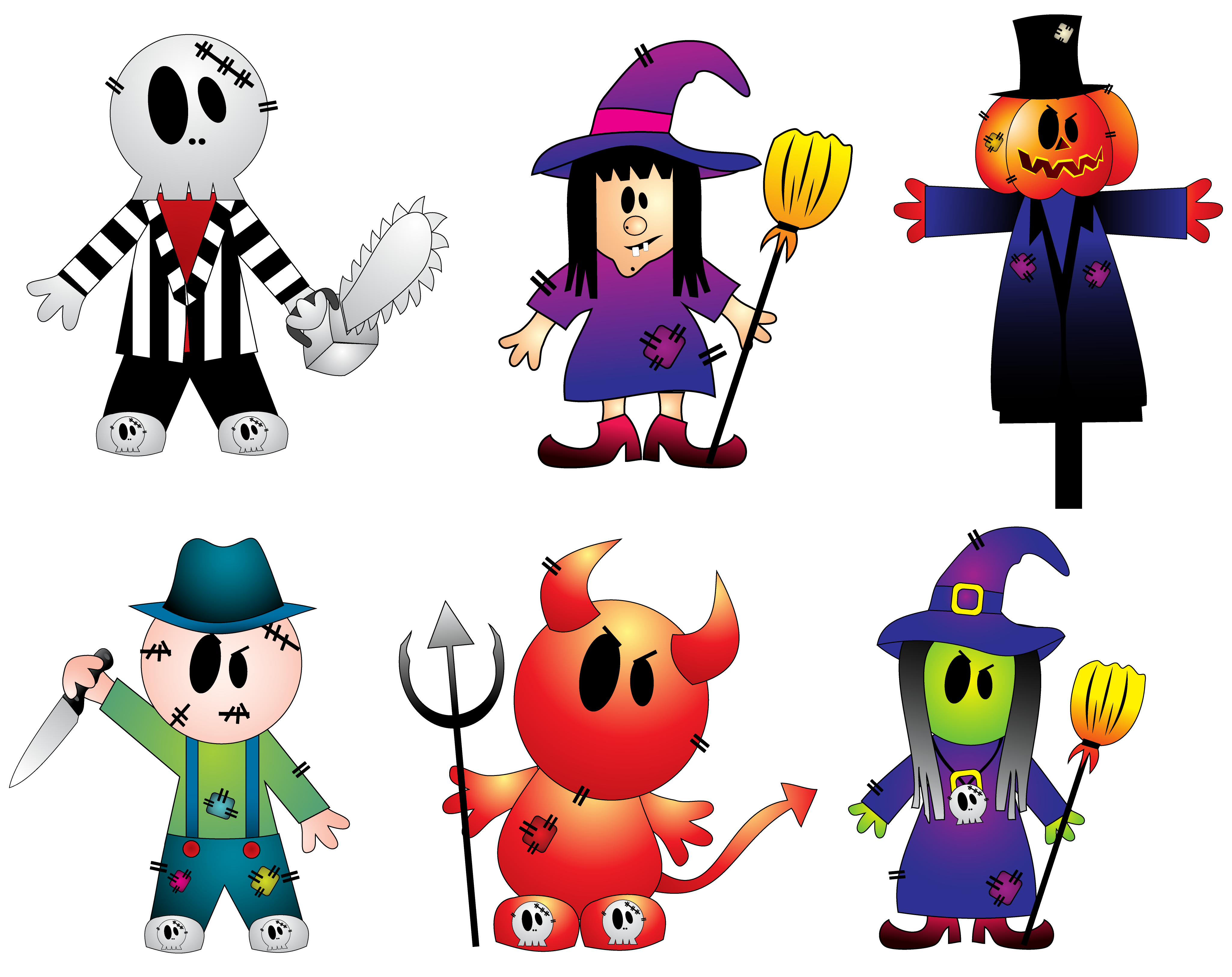 Halloween Creepy Collection PNG Cliparts.