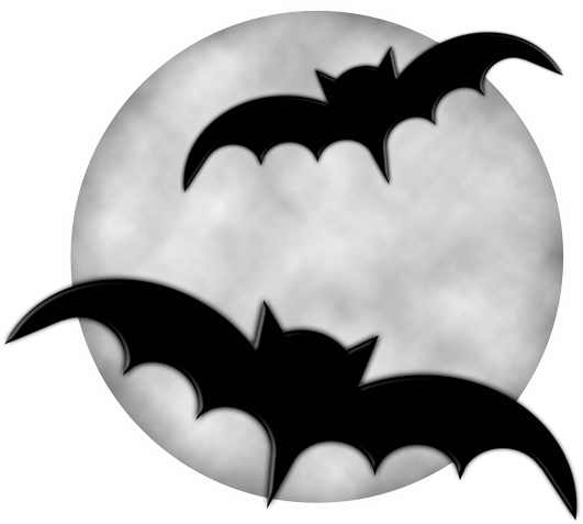 Moon And Bats Clipart.