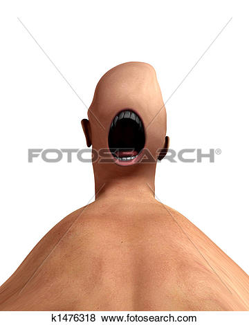 Stock Illustration of Creepy Mouth Monster 3 k1476318.