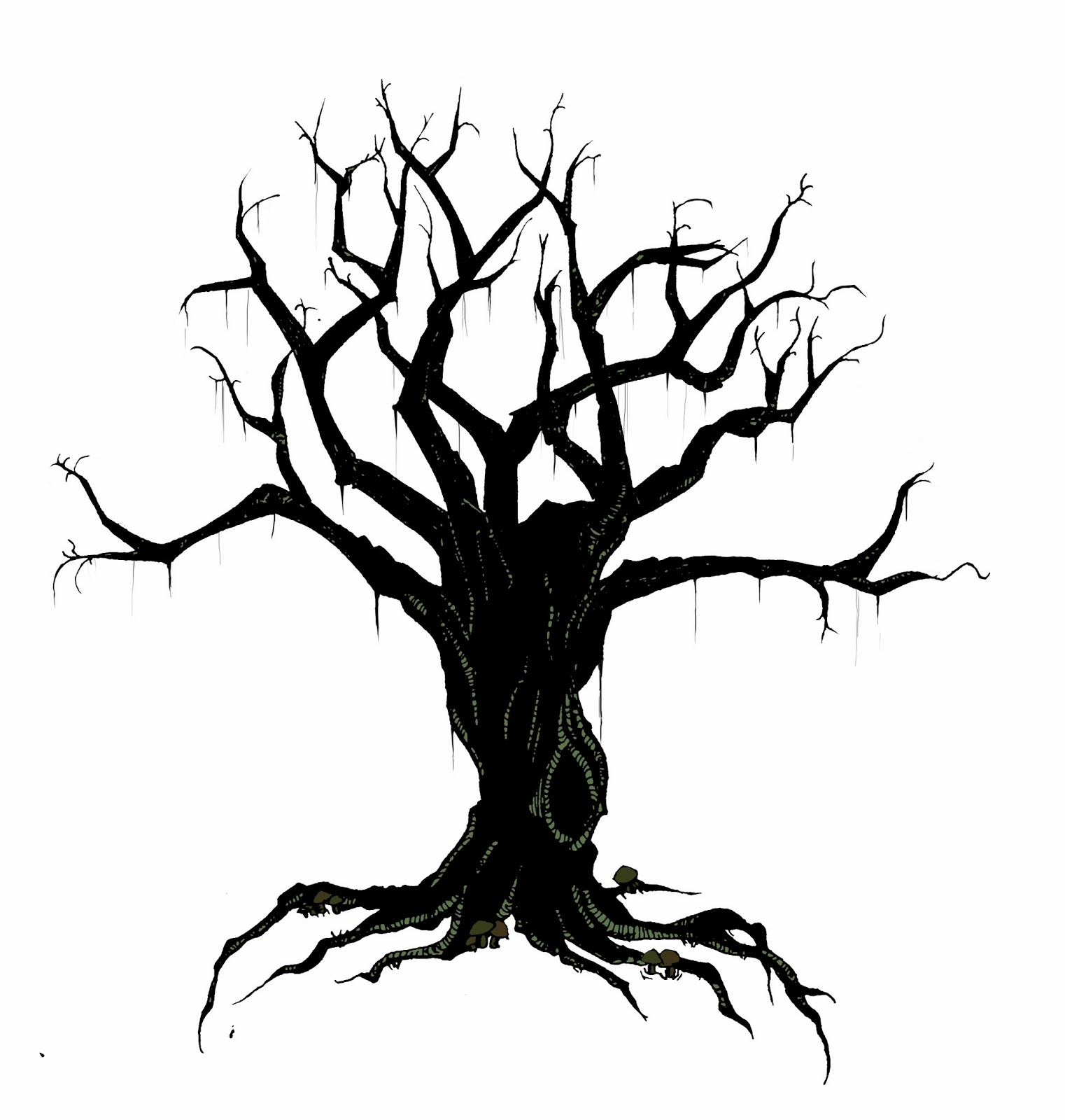 It is a graphic of Gratifying Tree Background Drawing