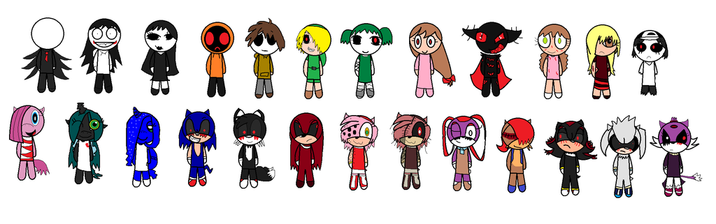 Chibi Creepypasta Characters by MissetheSummerNeko12 on DeviantArt.