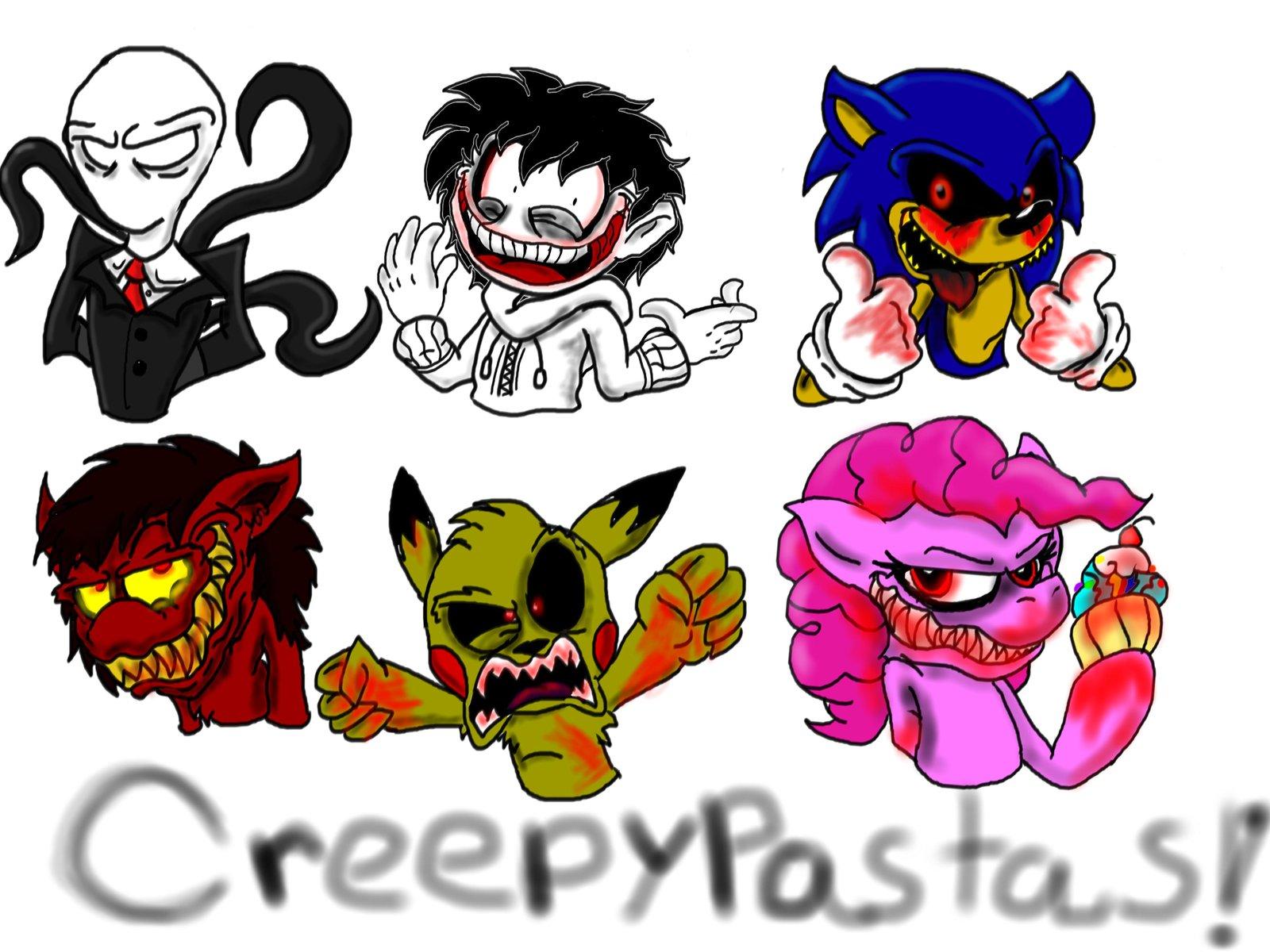 Creepypasta (Stream Doodles) .Slenderman .Jeff the Killer .Sonic.