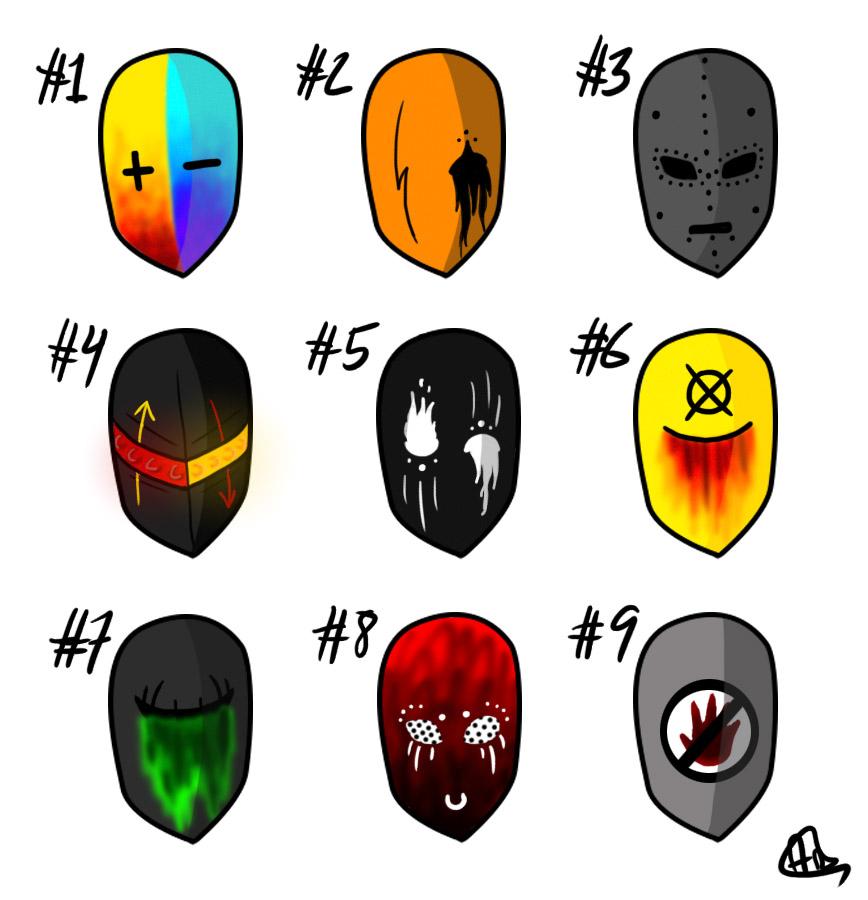 Creepypasta Mask Adoptables #2 [OPEN] by Cerealous on DeviantArt.