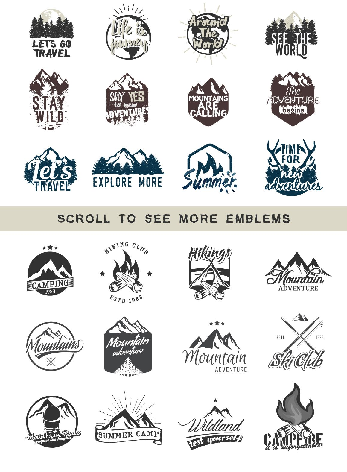 24 ADVENTURE LOGOS PACK by Roman Paslavskiy on.