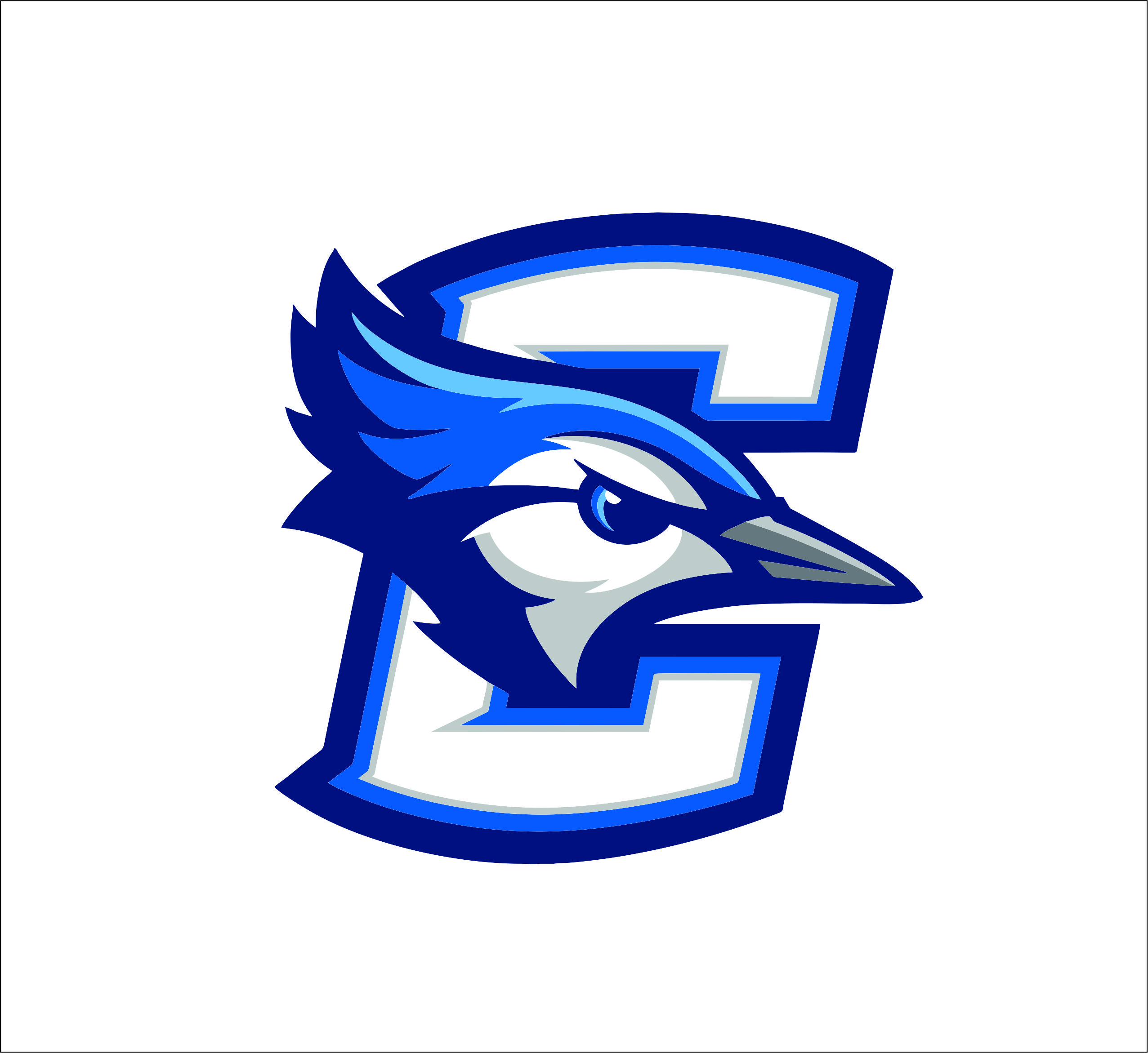 Creighton Bluejays logo Digital File (SVG cutting file + pdf+png+dxf).