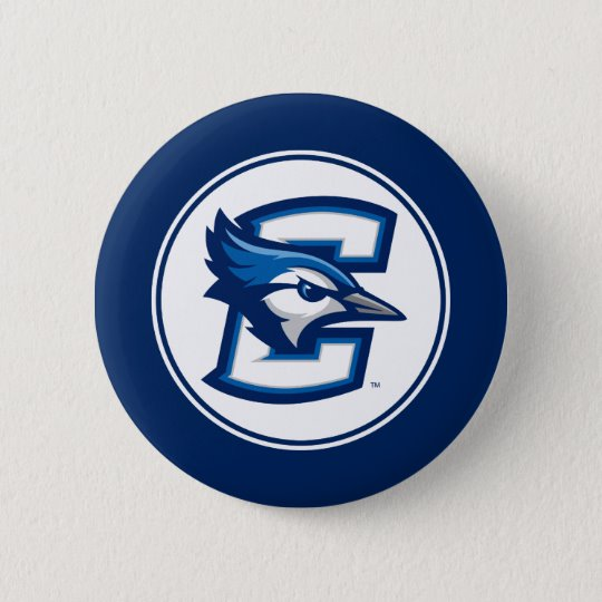 Creighton University Bluejay Logo Button.