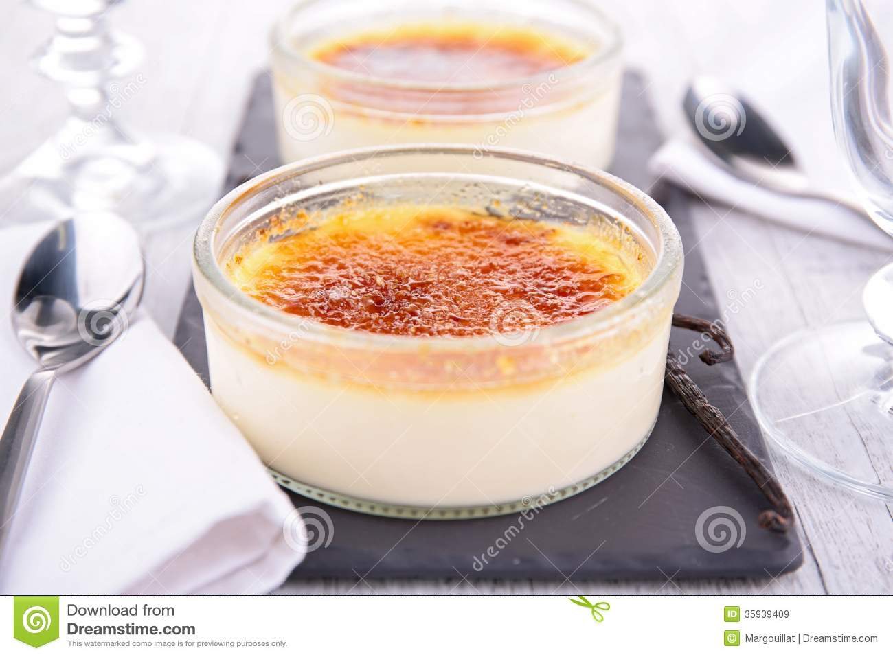 Creme Brulee Royalty Free Stock Images.