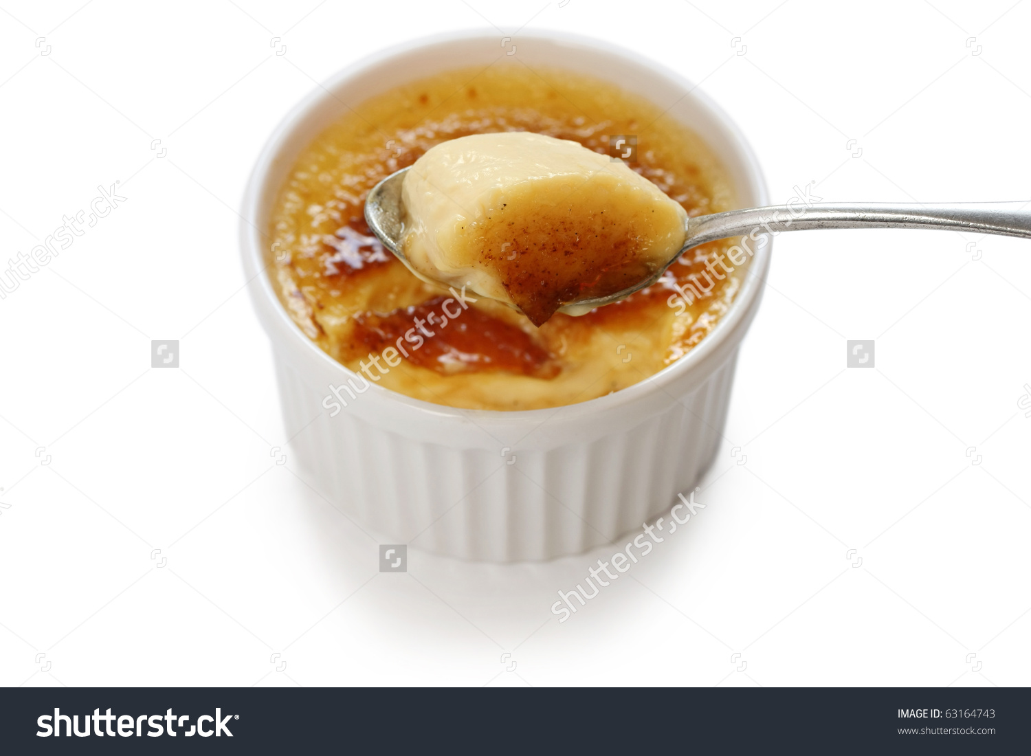 Creme Brulee Cream Brulee Burnt Cream Stock Photo 63164743.