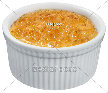 Stock Photo Creme Brulee Clipart.