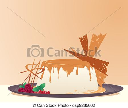Vector Illustration of creme brulee.