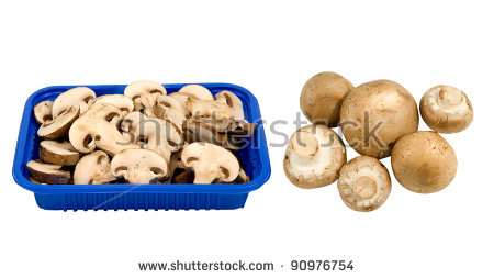 Crimini Mushrooms Stock Images, Royalty.