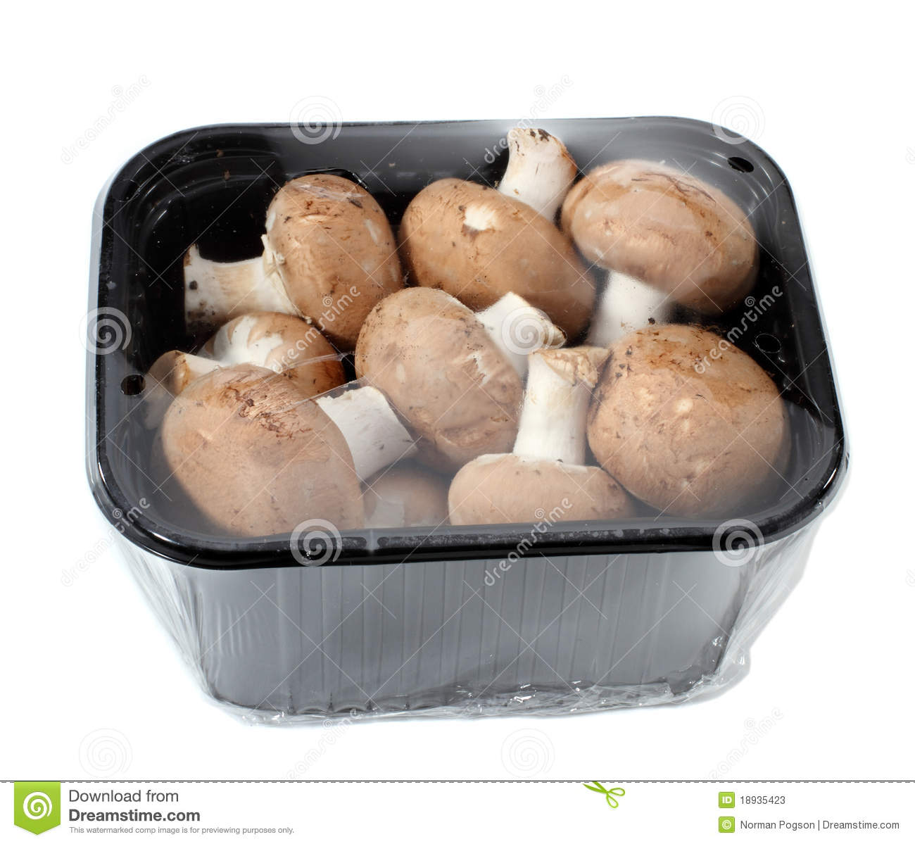 Fresh Cremini Mushrooms Stock Photos.