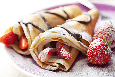Crepes Stock Photography.