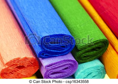Stock Images of crepe paper.