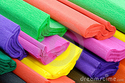 Crepe Paper Royalty Free Stock Photos.