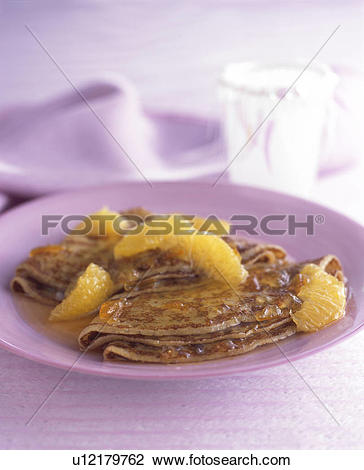Stock Photo of Crepes Suzette u12179762.