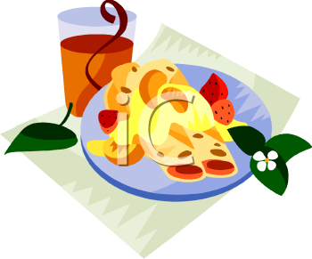 Fruit Crepes For Breakfast Clip Art.