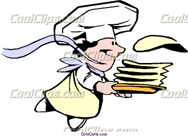 Cartoon Crepes Chef Vector Clip Art #1Cw8aJ.