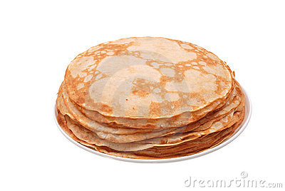 Stack Of Crepes On A Plate Royalty Free Stock Photos.