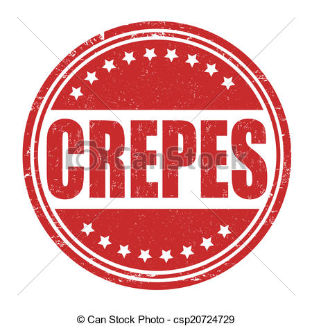 Vector Illustration of Crepes stamp.