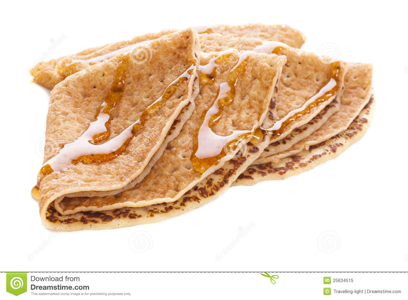 Crepes With Maple Syrup Royalty Free Stock Photo.
