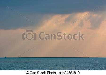 Stock Photography of Crepuscular rays.