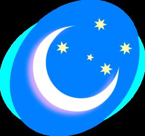 Crescent With Stars Clip Art at Clker.com.