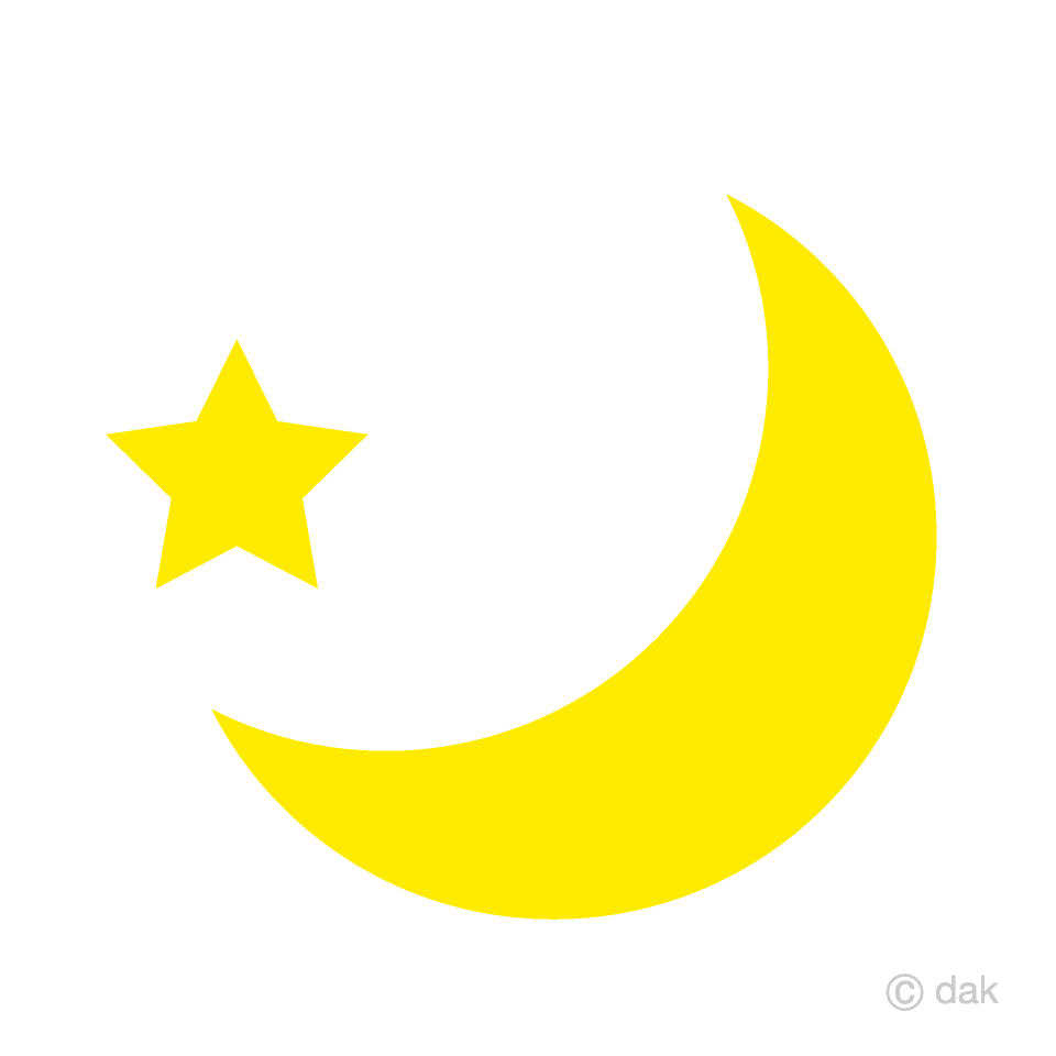 Free Crescent Moon and Star Clipart Image|Illustoon.