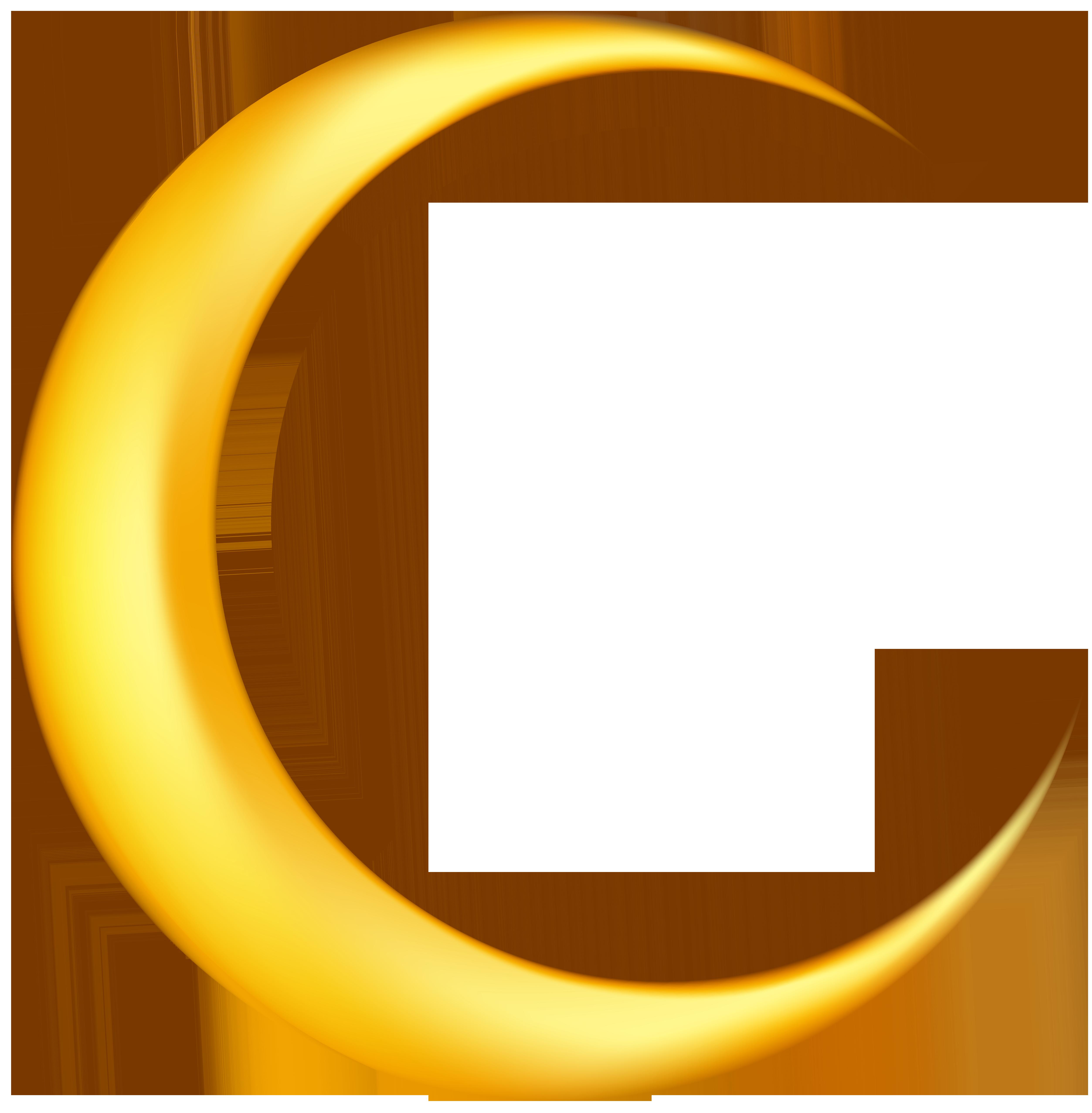 Crescent moon clip art.