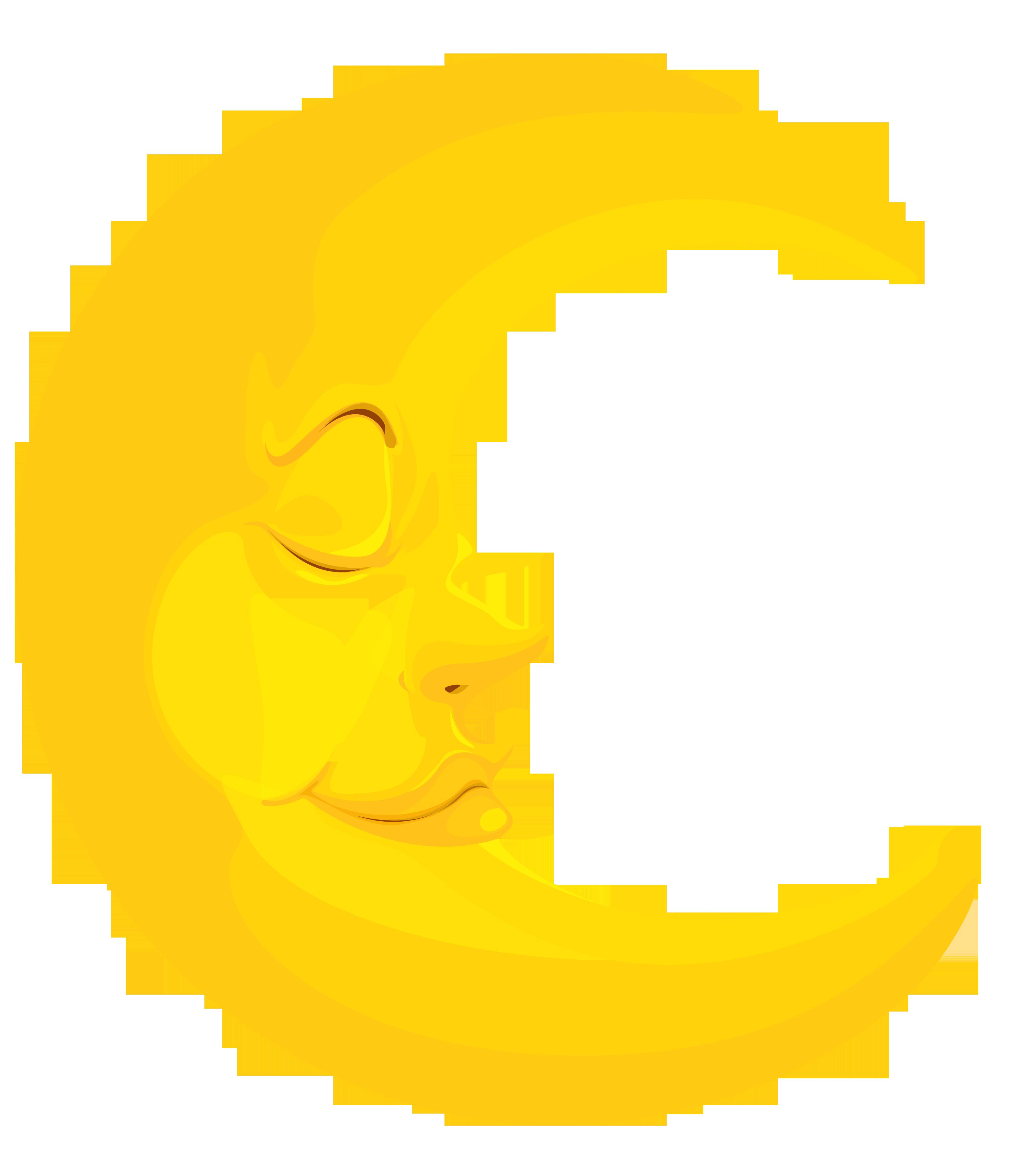 yellow moon clip art