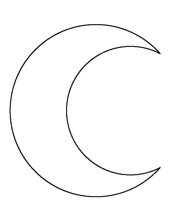 crescent moon face outline clipart - Clipground