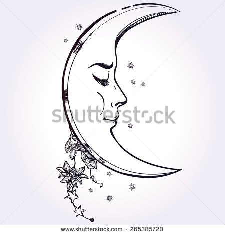 Moon Face Stock Images, Royalty.
