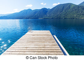 Stock Photography of Crescent lake.