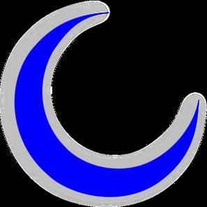 Blue crescent moon clipart.