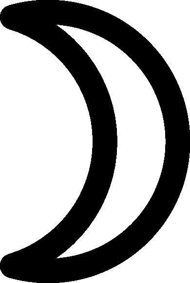 Moon Symbol Crescent clip art Free Vector / 4Vector.