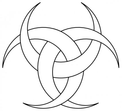 Three Crescents clip art.