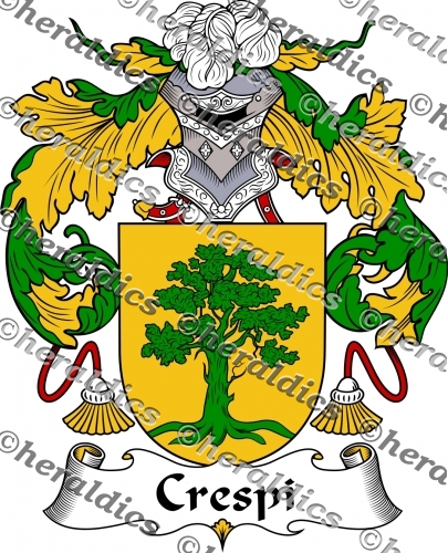 Crespi Coat of Arms Crespi Family Crest Instant Download.