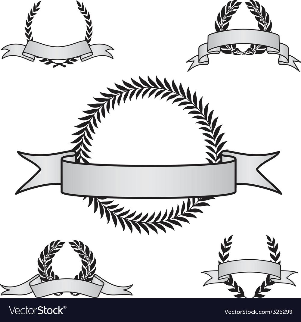 Award crest set.