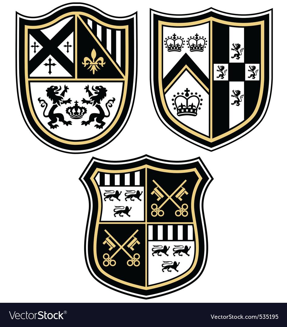 Heraldic emblem crest shield.