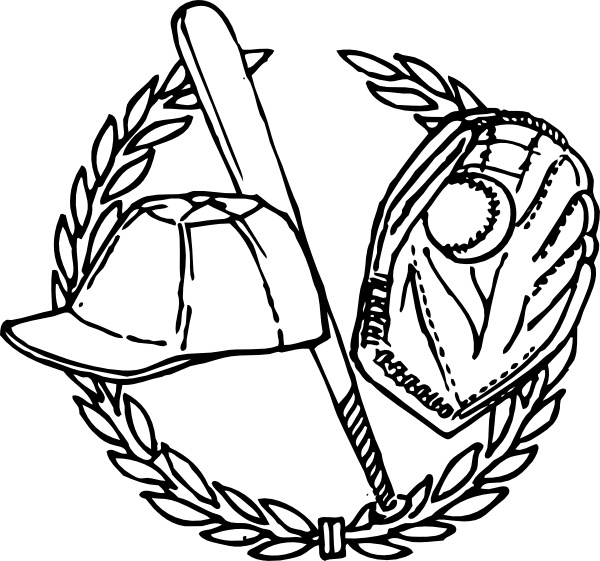 Baseball Crest clip art Free vector in Open office drawing.