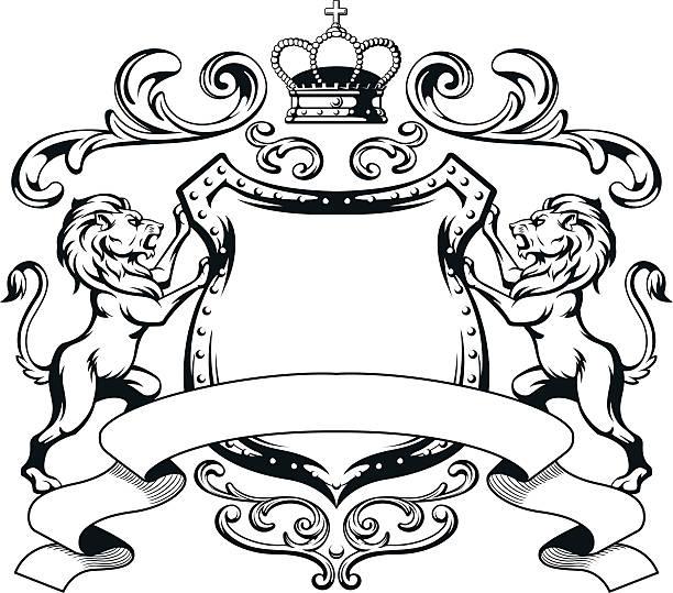 Heraldic Lion Clipart.